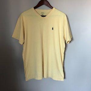 POLO t-shirt yellow cotton logo